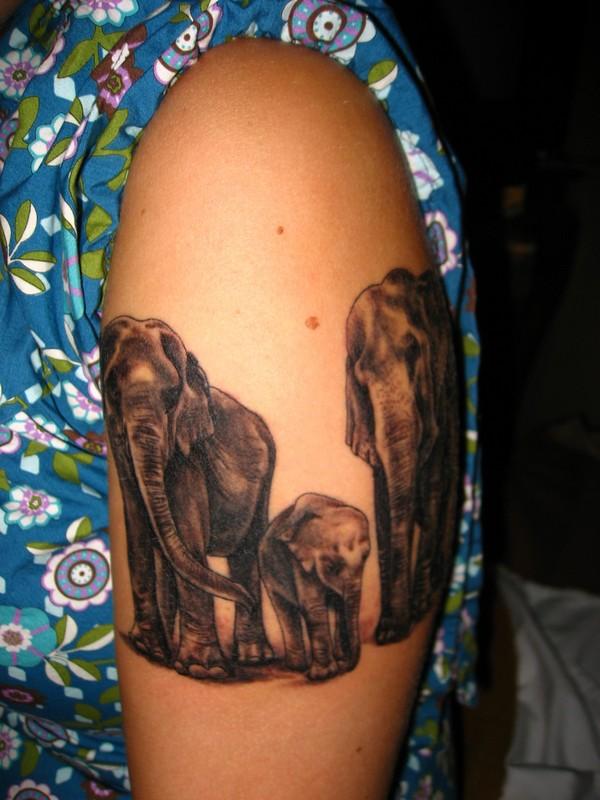 30 half sleeve elephant tattoos ideas. Black Bedroom Furniture Sets. Home Design Ideas