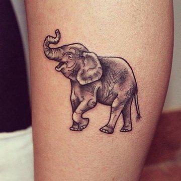 38 trunk up elephant tattoos. Black Bedroom Furniture Sets. Home Design Ideas