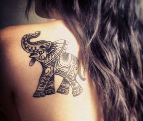 40 indian elephant tattoos and ideas for Indian ink tattoo