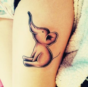 20 elephant tattoos on thigh for girls. Black Bedroom Furniture Sets. Home Design Ideas