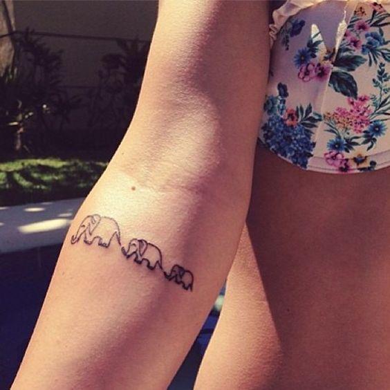 50+ Small Elephant Tattoos