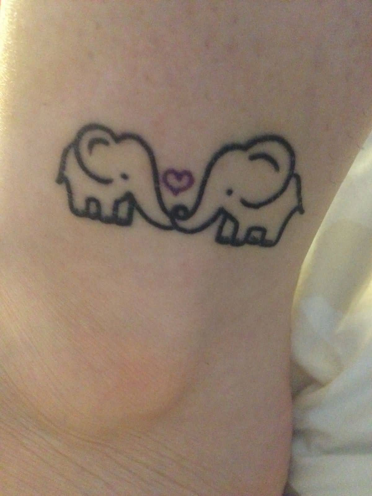 40 outline elephant tattoos for Black heart outline tattoo meaning