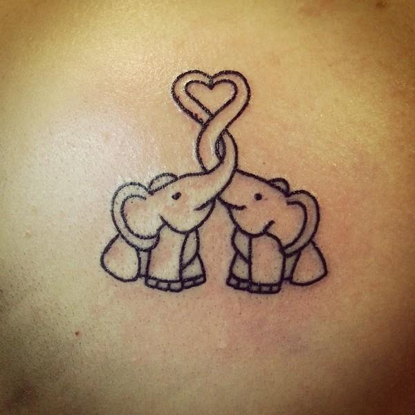 45 nice elephant tattoos ideas for Cute baby tattoos