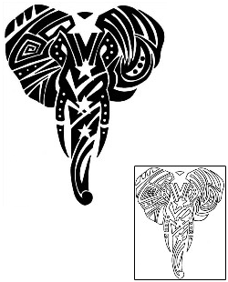 Tribal Elephant Head Outline | www.pixshark.com - Images ...