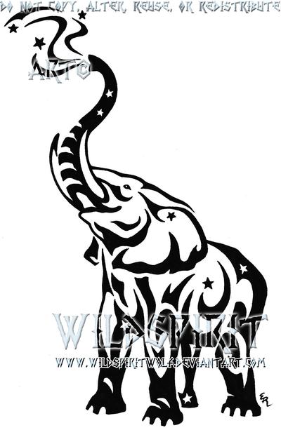 Elephant Stencil Trunk Up Elephant Stencil Trunk...
