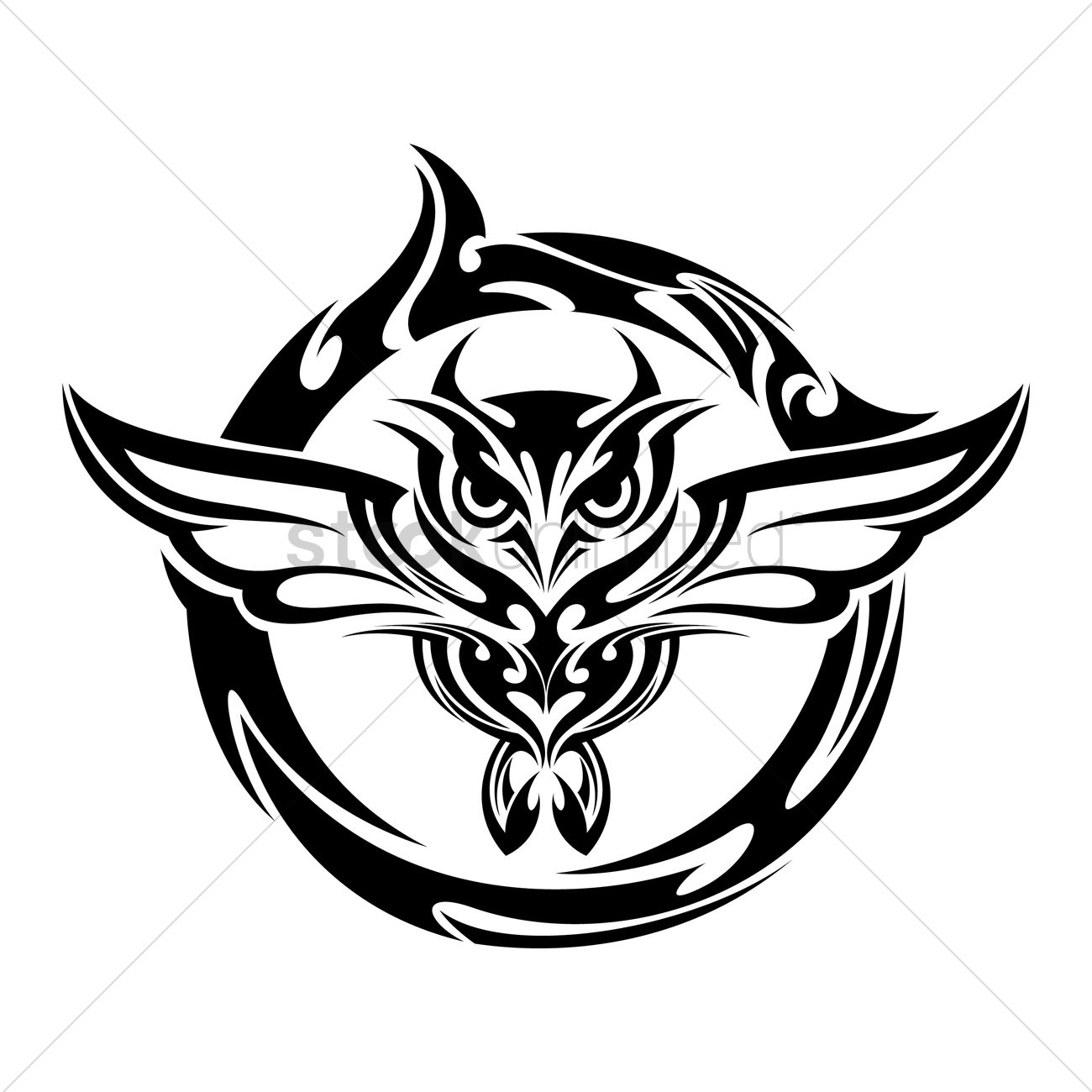 28 flying owl tattoo designs for Tribal owl tattoo