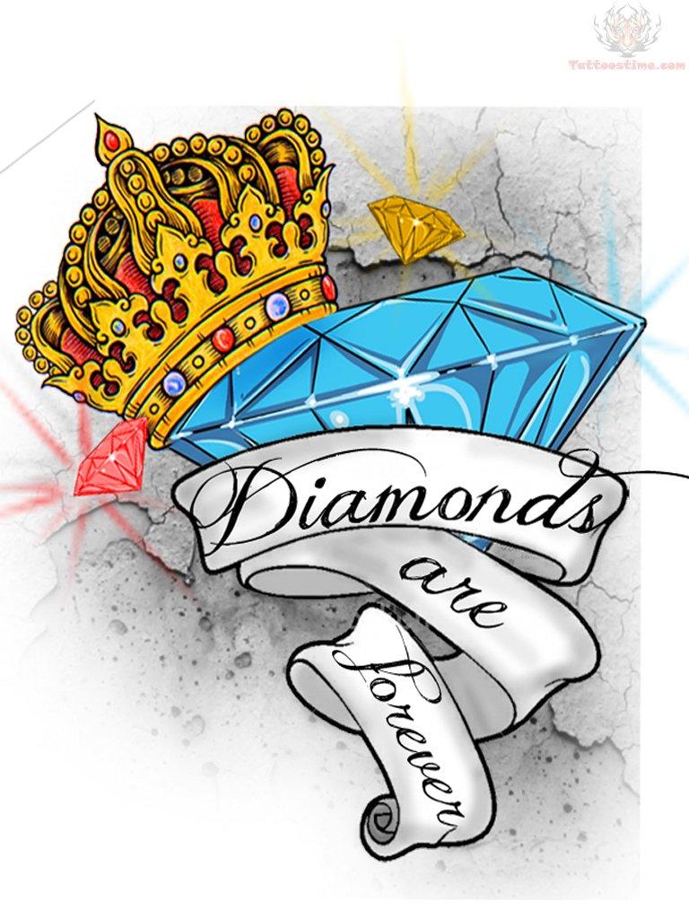 30+ Diamond And Crown Tattoo