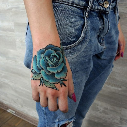47+ Rose Hand Tattoos For Women