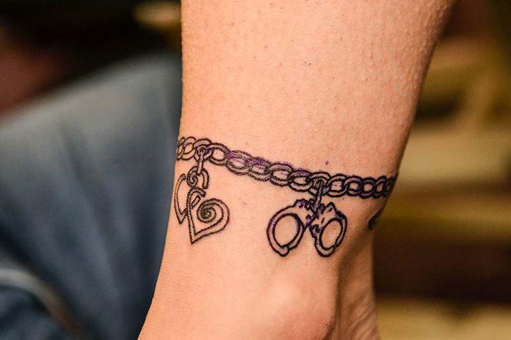 Charm Bracelet Tattoo On Right Wrist