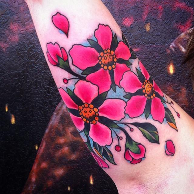 2200d4121 55+ Latest Cherry Blossom Tattoos Ideas