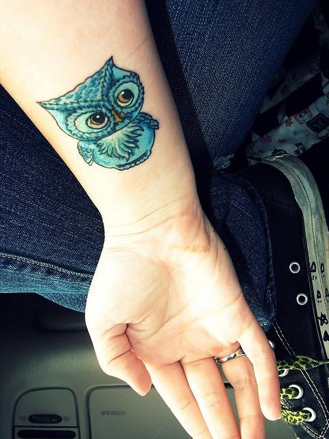 50+ Cute Baby Owl Tattoos