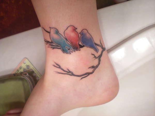 20+ Beautiful Birds Tattoos On Ankle
