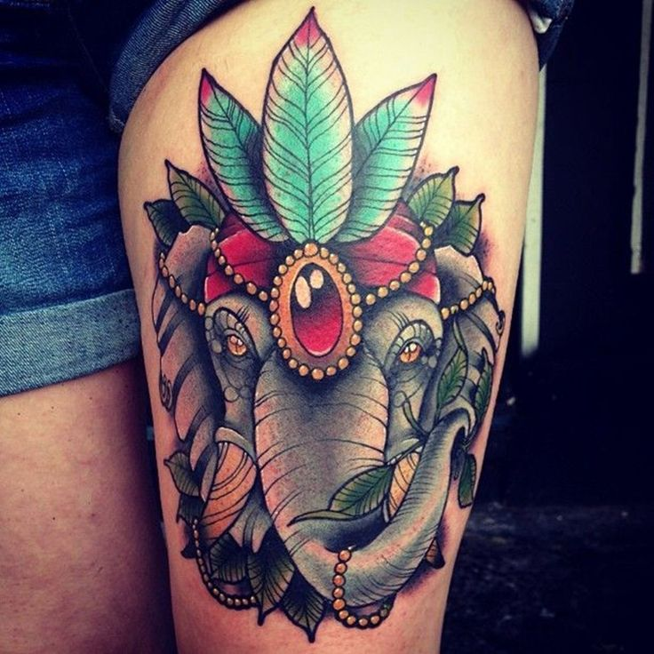 20+ Elephant Tattoos O...