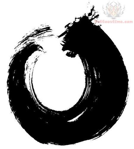 15 zen circle tattoos design ideas. Black Bedroom Furniture Sets. Home Design Ideas