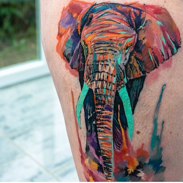 42 unique japanese elephant tattoos for Cool japanese tattoos