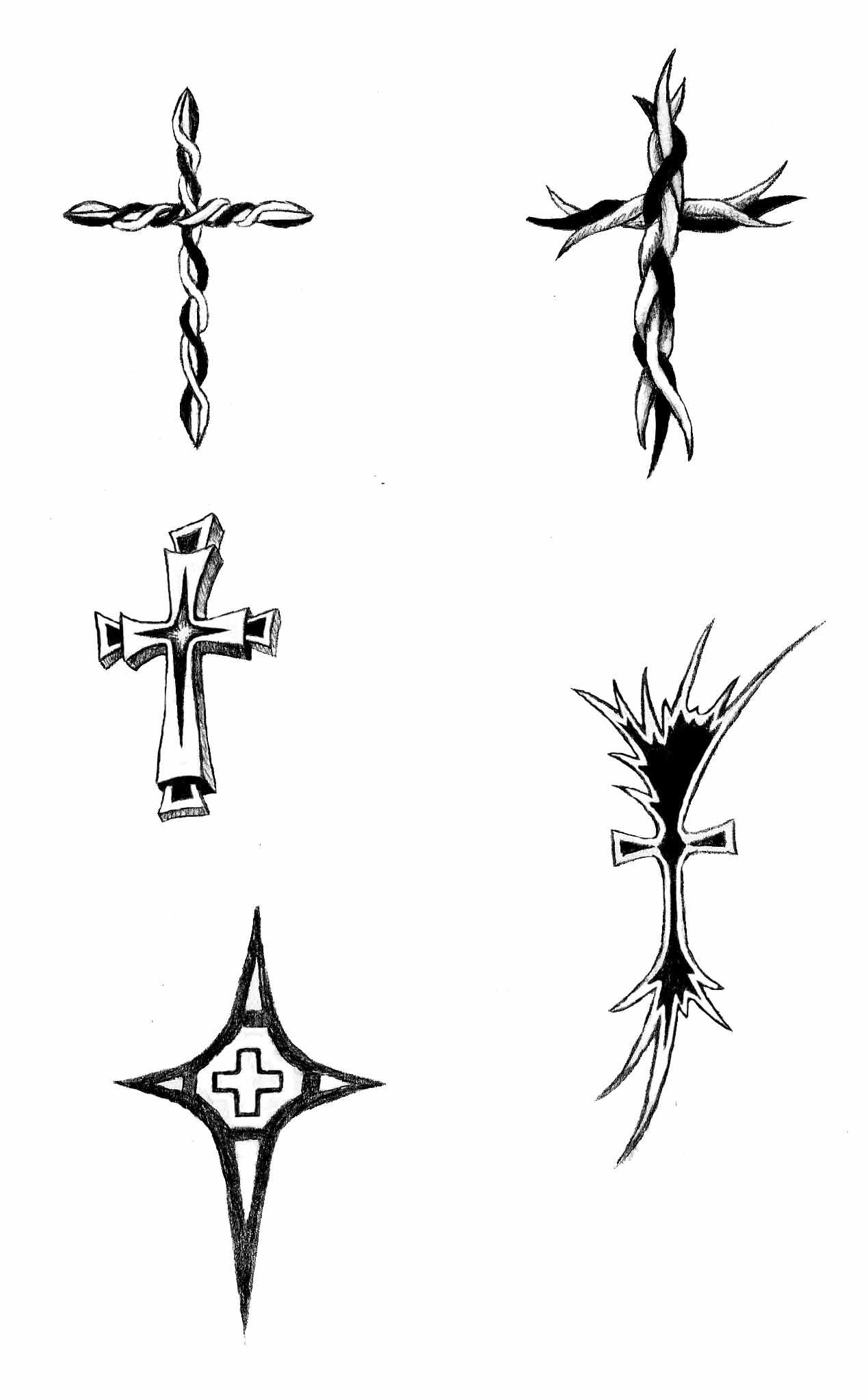 32+ Cross Tattoos On W...