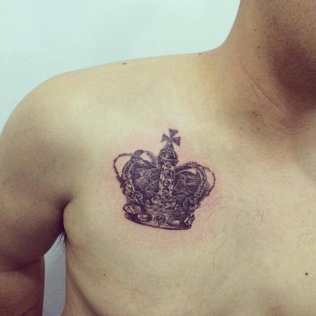 40 Crown Tattoos On Chest