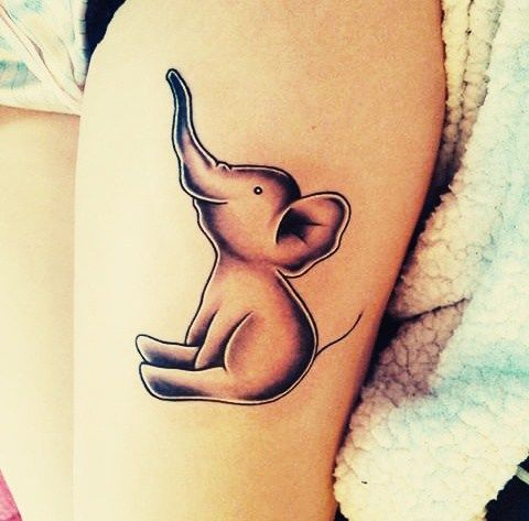 55 best elephant tattoos for Cute baby tattoos