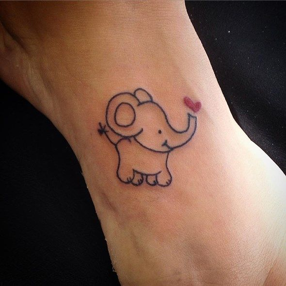52 black elephant tattoos ideas for Black heart outline tattoo meaning