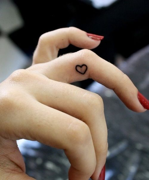 24051a762832d Cute Tiny Heart Tattoo On Side Finger