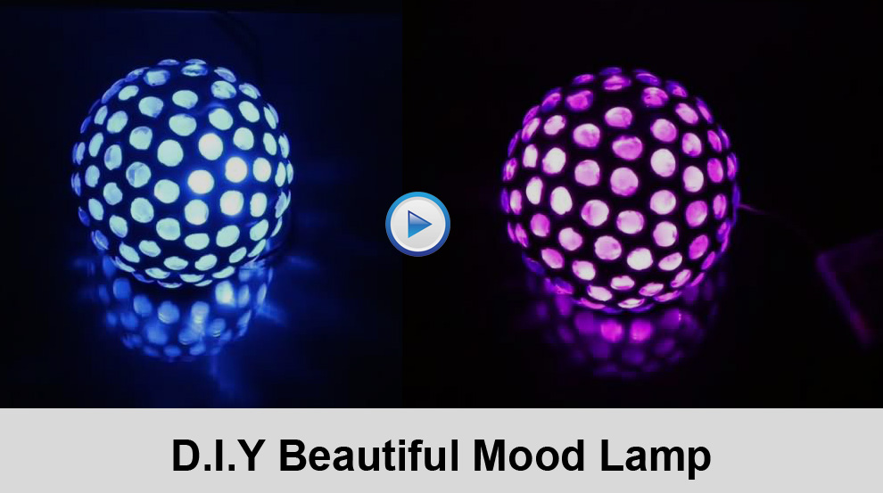 D.I.Y Beautiful Mood Lamp Video