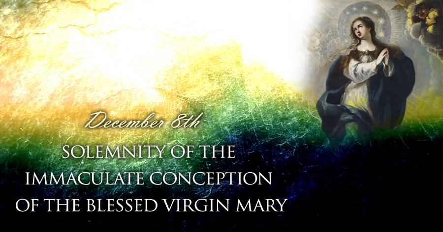 ... 8th Solemnity Of The Immaculate Conception Of The Blessed Virgin Mary