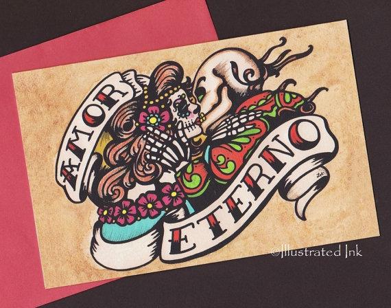 Dia de los muertos greeting card m4hsunfo