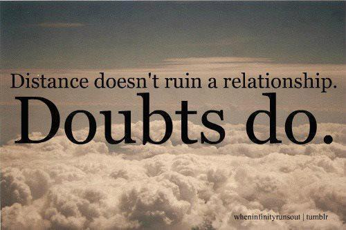 How to get rid of doubts in a relationship