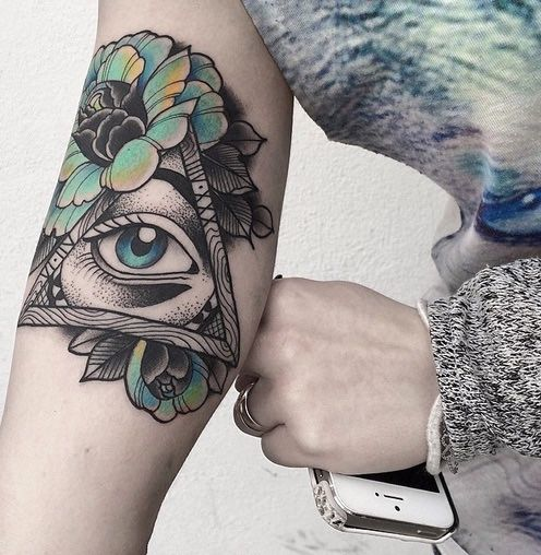Eye With Triangle Tattoo: 67+ Best Triangle Tattoos Ideas