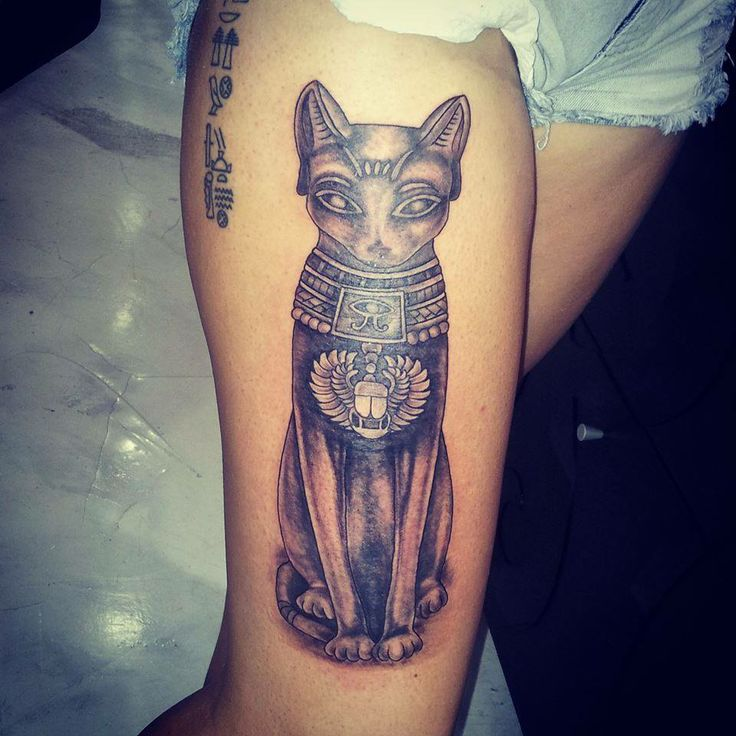 32 egyptian cat tattoos ideas