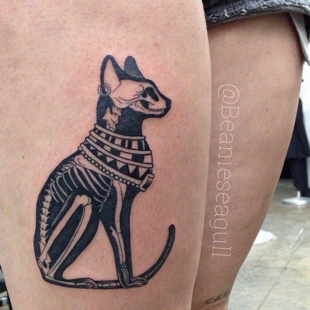 32 egyptian cat tattoos ideas for X ray tattoo