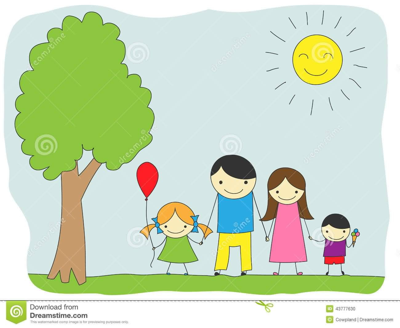 family day celebration with family clipart
