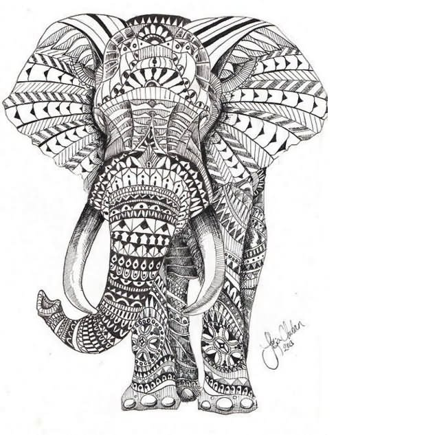 Traditional indian furniture design - 40 Elephant Tattoo Designs And Ideas