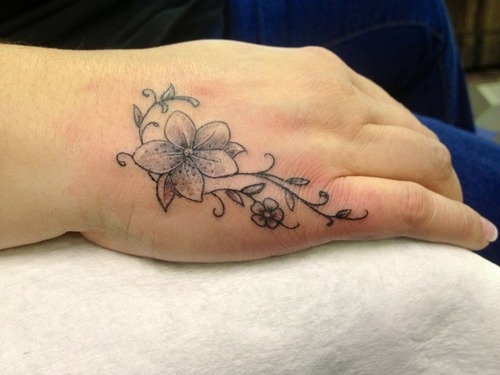 30 side hand tattoos for women for Female hand tattoos
