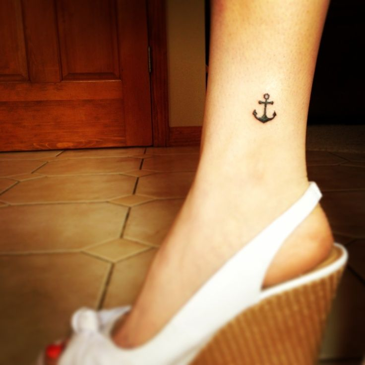 56+ Nice Anchor Tattoos On Ankle