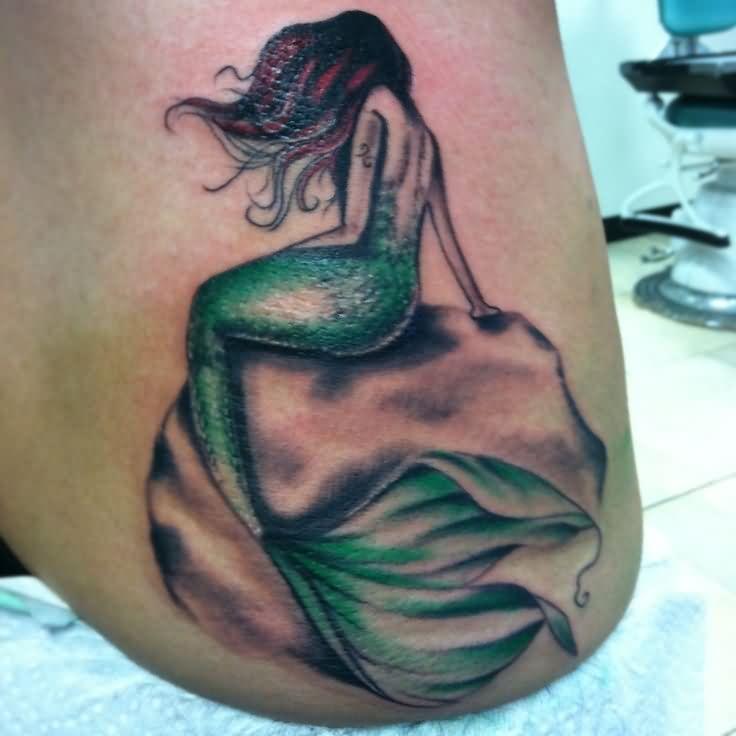 Sleeve Ink Tattoo Arm Color Tattoo Mermaid Saint: 60+ Awesome Mermaid Tattoos Ideas