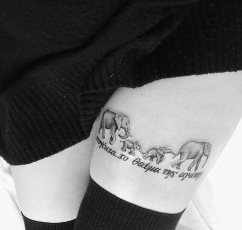 47+ Elephant Family Tattoos