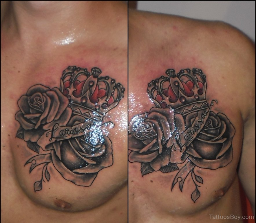 40+ Crown Tattoos On Chest
