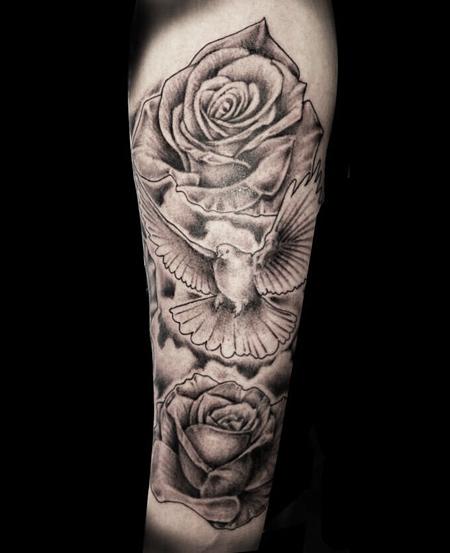 35 dove tattoos with roses rh askideas com dove and rose tattoo drawing dove and rose chest tattoo