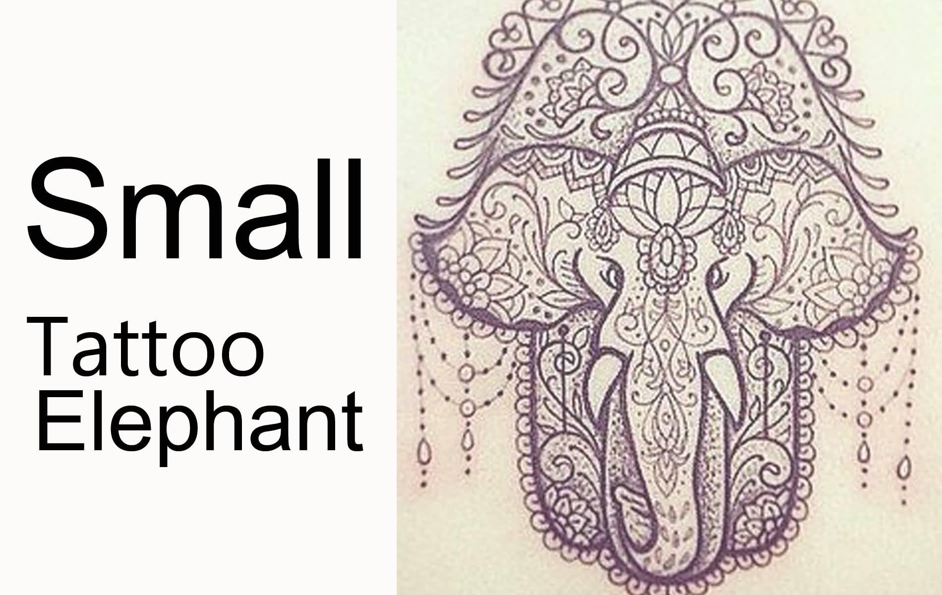 20 latest elephant tattoo designs for Hamsa elephant tattoo