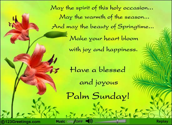 Have A Blessed And Joyous Palm Sunday Greeting Card