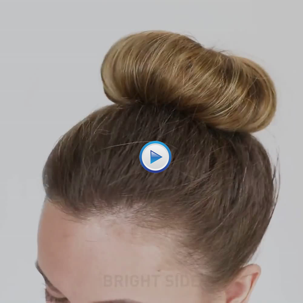How to make a big and beautiful sock bun