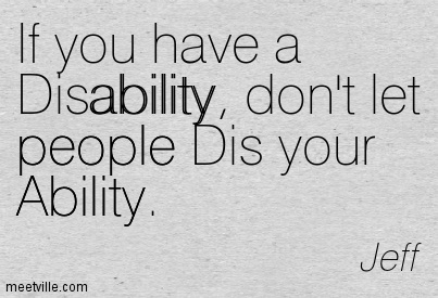 Quotes About Disabilities Amazing 64 Top Quotes And Sayings About Disability
