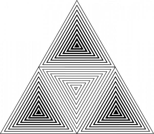 Illusion Geometric Triangle Tattoo Stencil By Jean Schouten