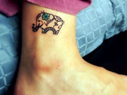 Henna Tattoo Small Ankle: 50+ Small Elephant Tattoos
