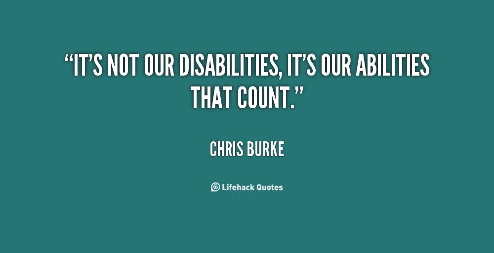Quotes About Disabilities Simple 64 Top Quotes And Sayings About Disability