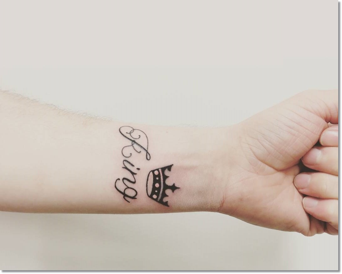 60 awesome crown tattoos on wrist for Names with crown tattoos