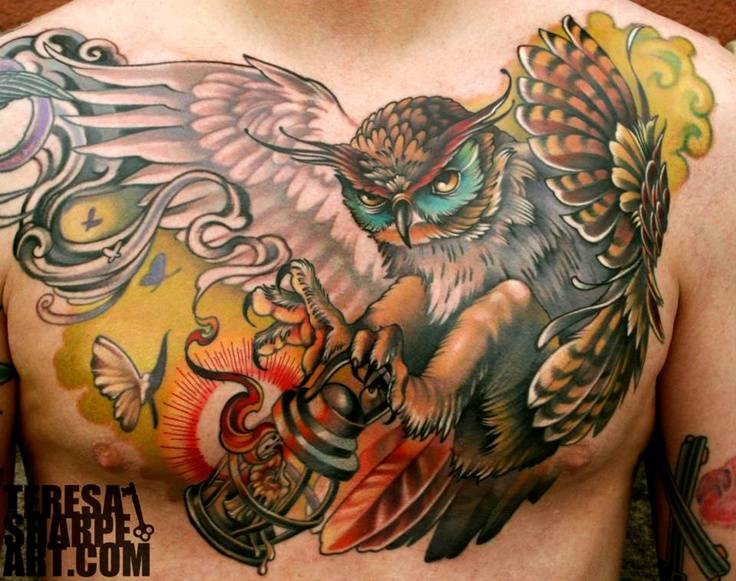 35+ Flying Owl Tattoos For Men