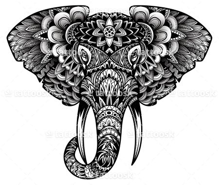 40 elephant tattoo designs and ideas. Black Bedroom Furniture Sets. Home Design Ideas
