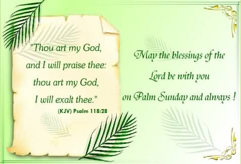 May The Blessings Of The Lord Be With You On Palm Sunday And Always